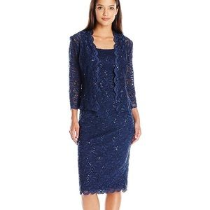 Alex Evenings lace dress with jacket